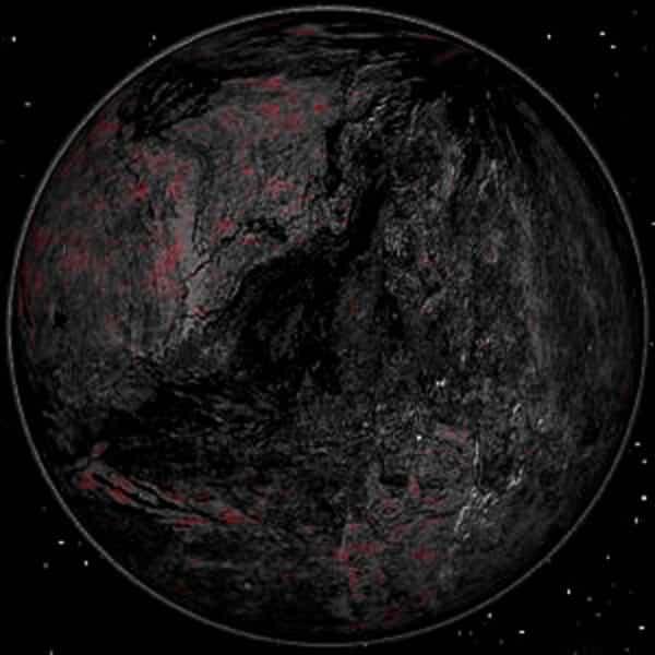 animation eines kohlenstoffplaneten