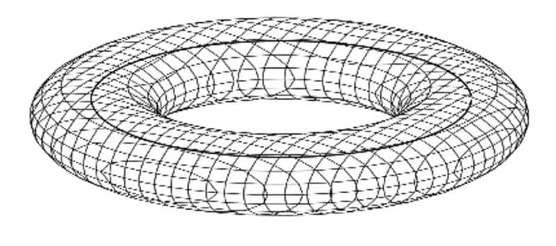 skizze eines torusförmigen einzugsbereichs