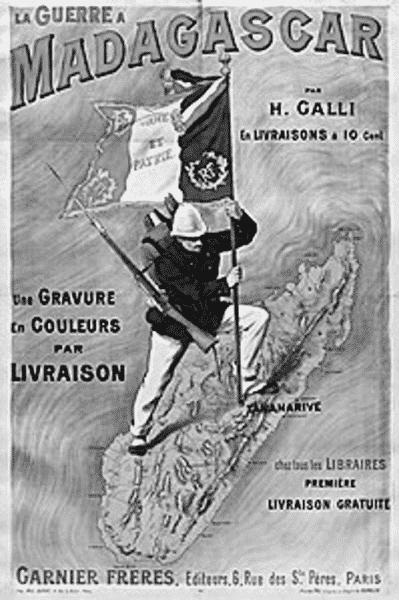 französisches propagandaposter zur kolonialherrschaft auf madagaskar
