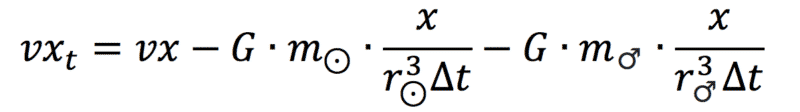 formel zur berechnung der neuen geschwindigkeit der erde in einem dreikörperproblem