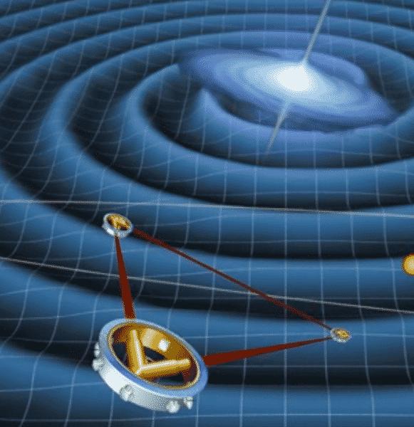 weltraum-interferometer für gravitationswellenforschung