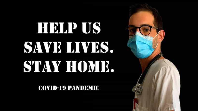 help us save lives. stay home.